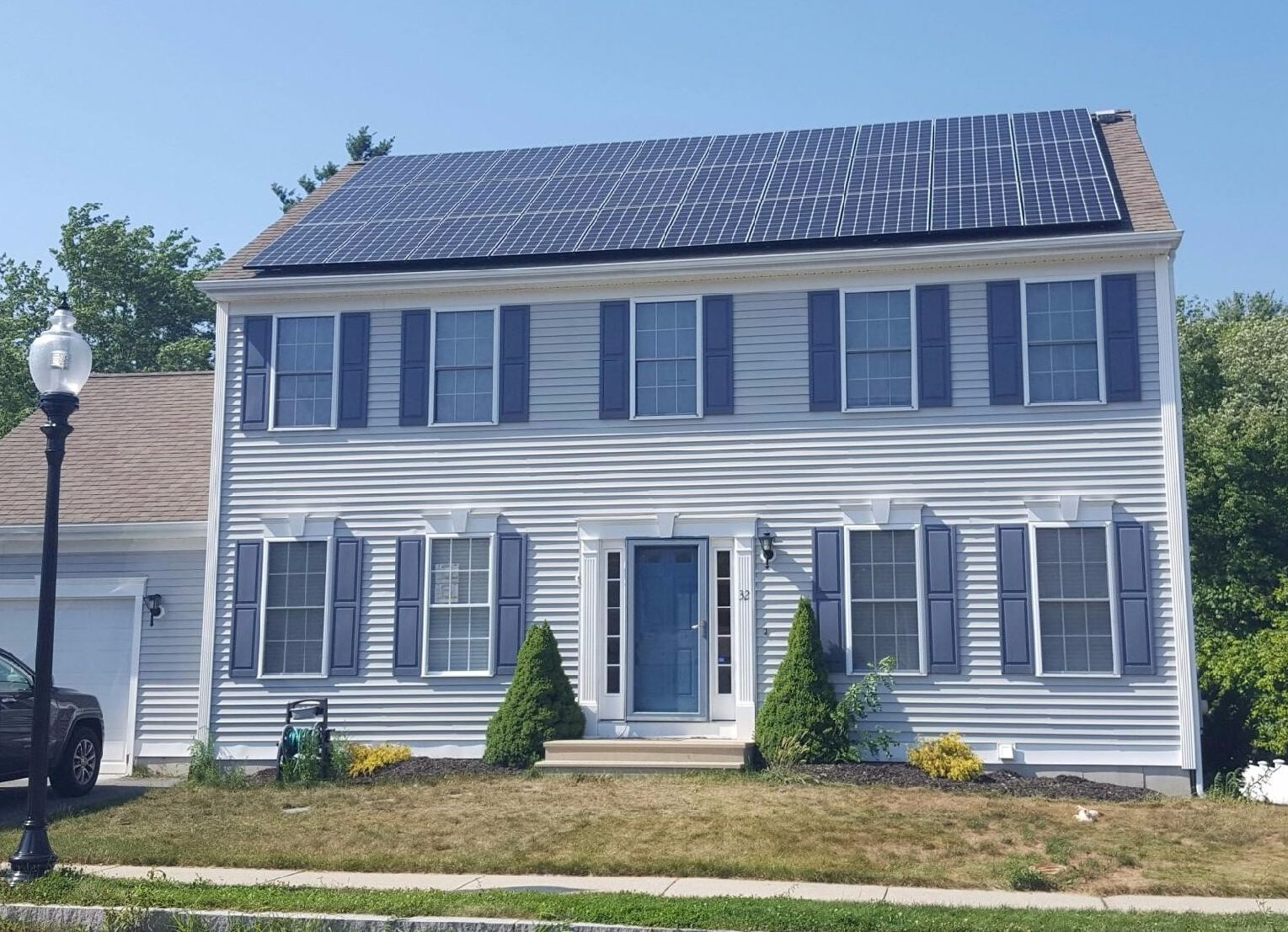 9.6-kW residential solar system