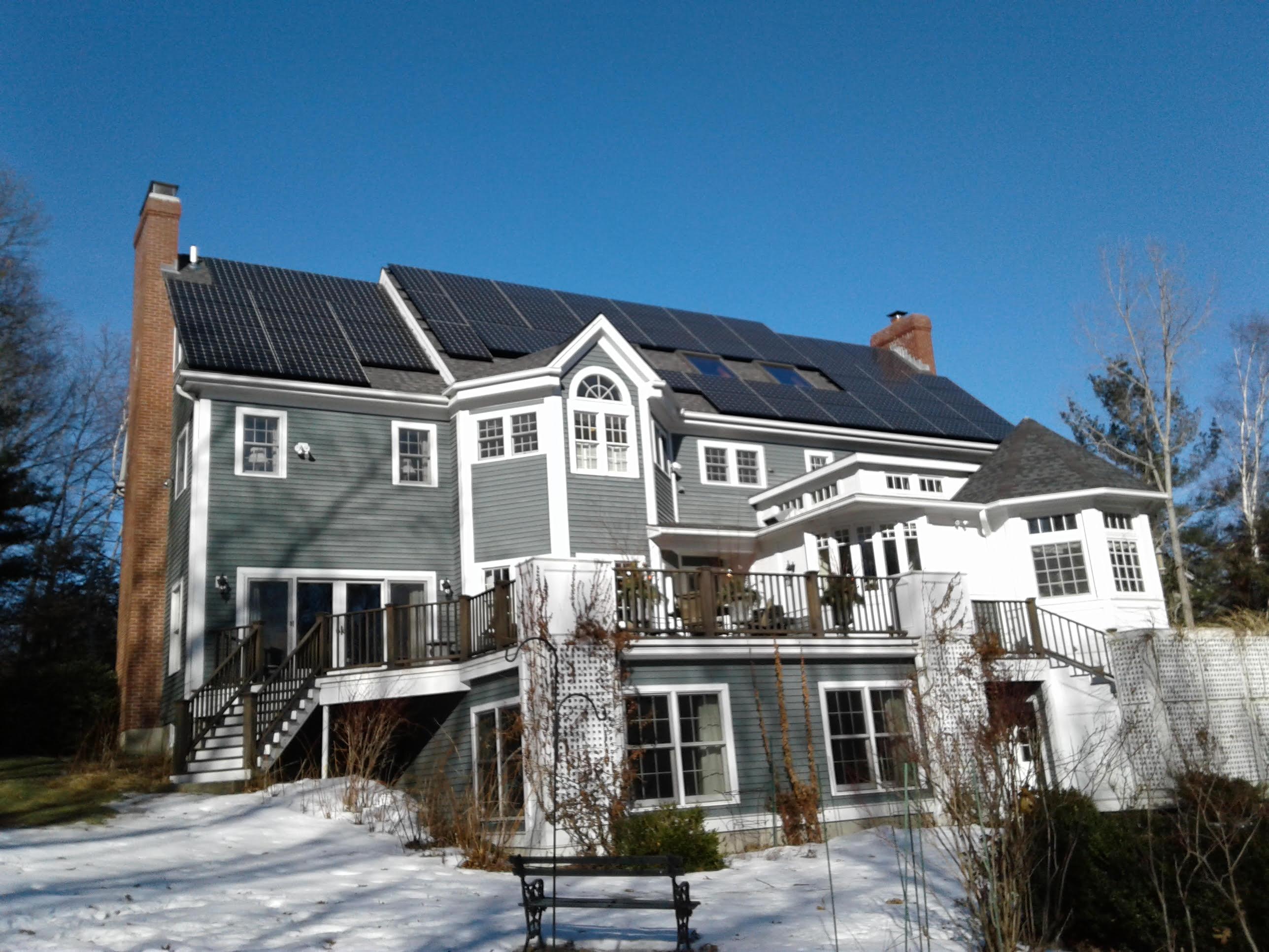 Residential solar installation in Lexington