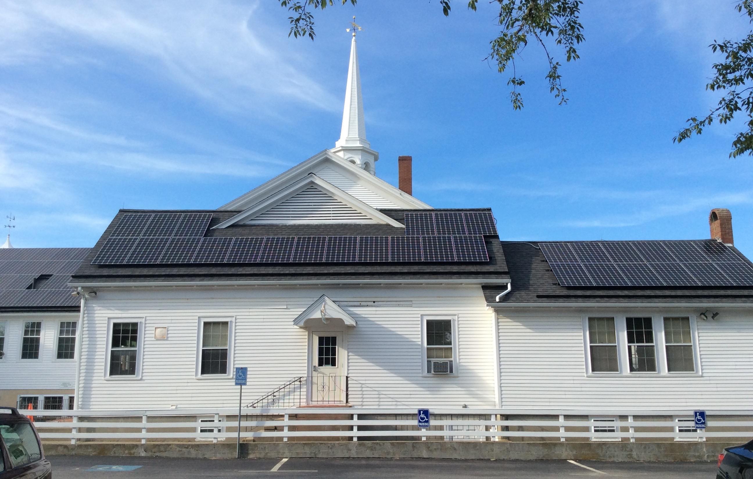 Pilgrim Church solar array- Harwich Port, MA